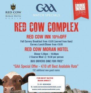 GAA Supporter Red Cow Moran Hotel